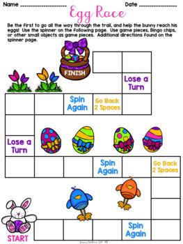 Easter Speech Board Game Freebie