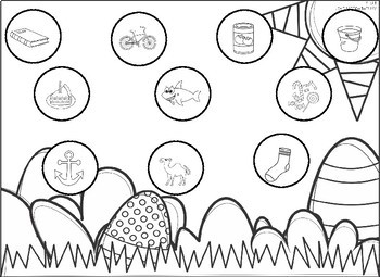 Easter Speech Mats - Color/B&W - ALL Positions for Sounds