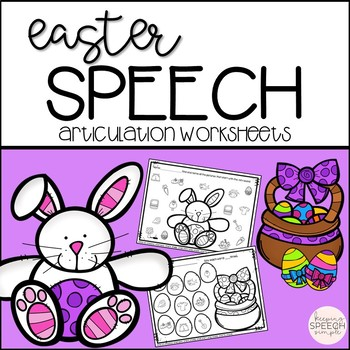 Easter Speech No Prep Articulation Worksheets
