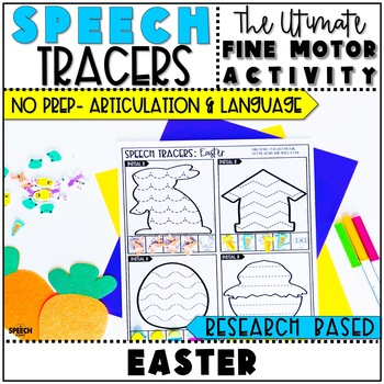 Easter Speech Therapy : No Prep Fine Motor Articulation and Language Activity