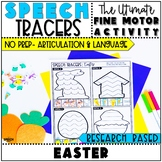 Easter Speech Therapy : No Prep Fine Motor Articulation an