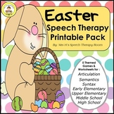 Easter Speech Therapy Printable Pack
