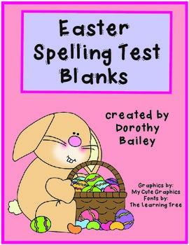 Easter Spelling Blanks