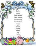 Easter Spelling List