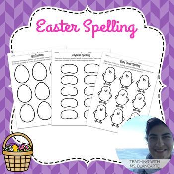 Easter Spelling - NO PREP