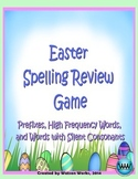 Easter Spelling Review Game (Prefixes, High Frequency, & Silent Consonants)