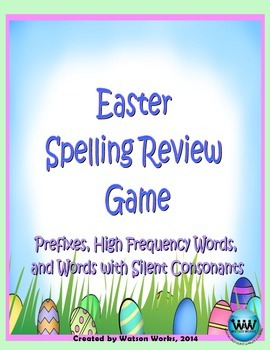 Easter Spelling Review Game (Prefixes, High Frequency, & S