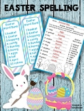 Easter Spelling - Worksheets, Word List - Print and Go