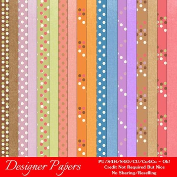 Easter Splash 1 A4 size Digital Papers (Dots)