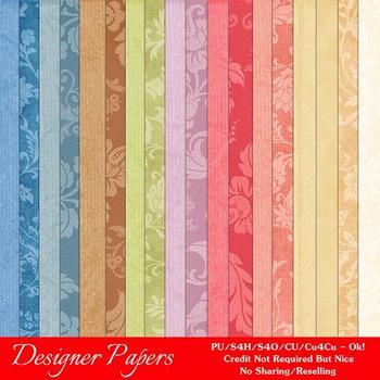 Easter Splash 5 A4 size Digital Papers (Floral)
