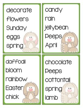 Easter Spring ABC Order