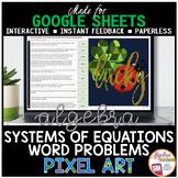 Easter Spring Math Algebra Digital Pixel Art Systems of Eq