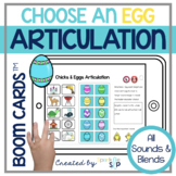 Easter Spring Articulation Boom Cards™️ Speech Therapy Chi