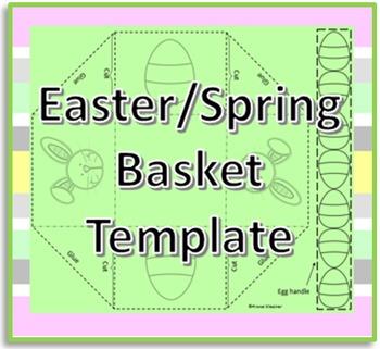 Easter/Spring Basket Template