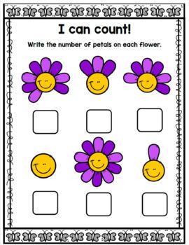 Easter & Spring Bilingual Counting Bundle/ Paquetes de contar pascua y primavera