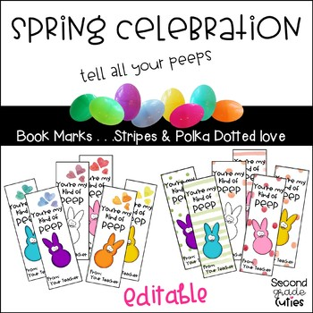 Easter & Spring Printable Book Marks for Teachers or Students
