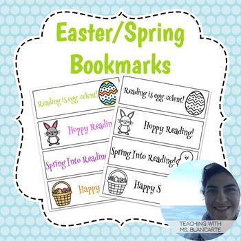 Easter/Spring Bookmarks