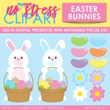 Easter Spring Bunnies Clip Art (Digital Use Ok!)