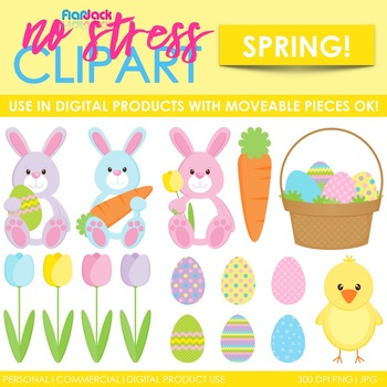 Easter Spring Clip Art (Digital Use Ok!)