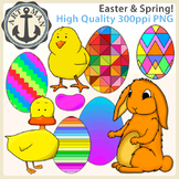 Easter/ Spring Clipart {Anchor Art Man}