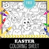 Easter & Spring Coloring Page Freebie