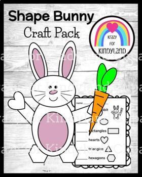 Easter, Spring Craft: Shape Bunny