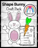 Easter, Spring Craft for Kindergarten: Shape Bunny