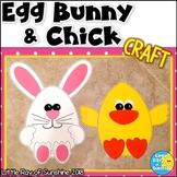 Easter/Spring EGG-Shaped Bunny & Chick Crafts
