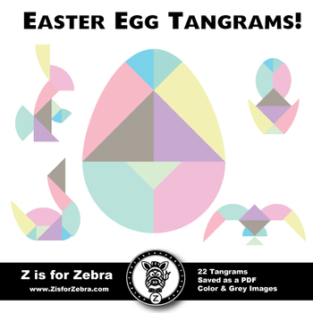 Easter / Spring Egg Tangram - ZisforZebra