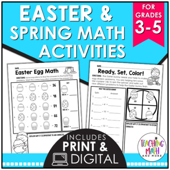Spring Math Activities Elementary | Easter Math Activities Elementary