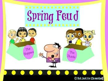 Easter & Spring Feud Powerpoint Game Bundle: SAVE 15
