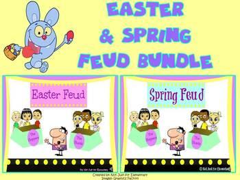 Easter & Spring Feud Powerpoint Game Bundle: SAVE 15