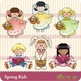 Easter Spring Kids Graphics Clipart