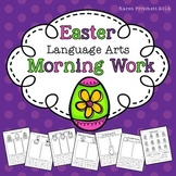 Easter / Spring Language Arts cut and paste morning work