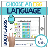 Easter Spring Language Boom Cards™️ for Speech Therapy Chi