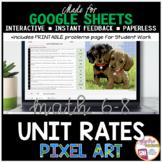 Easter - Spring Math Google Sheets Digital Pixel Art Unit Rate