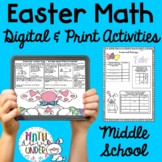 Easter Spring Math Puzzles, Activities, Coloring, NO PREP!