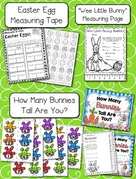 Easter / Spring Measuring --- Bunny Measuring Palooza Math Centers