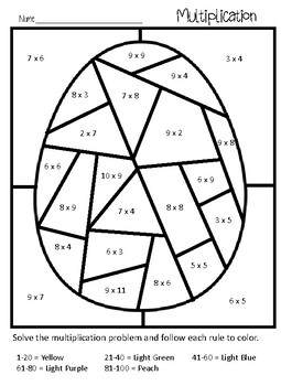 Easter/Spring Multiplication Coloring by Mrs Holly Hansen ...
