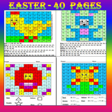 Spring Activities - Math Mystery Pictures - Math Centers