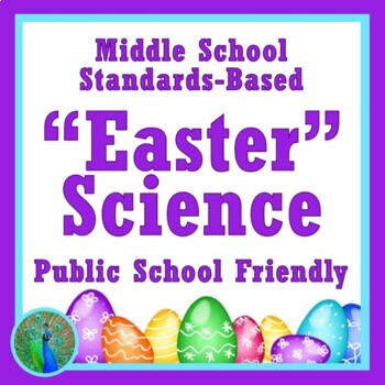 Easter Spring NGSS Middle School Science Activity Model Cells with Eggs MS-LS1-2
