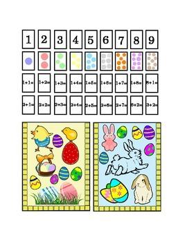 Easter Spring Number Recognition Kindergarten Addition Art Craft Printable Math