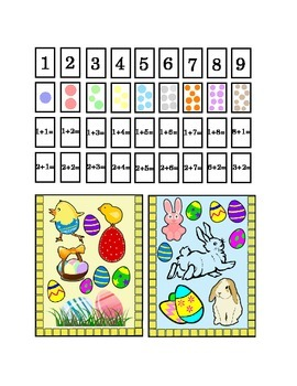 Easter Spring Number Recognition Kindergarten Addition Art Craft Printable Math