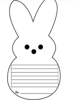 Easter/Spring Peep Writing Template