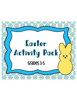Easter Spring Printable Activity Pack Grades 3-5