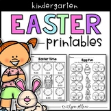 Easter Spring Printables - Math and Literacy Packet for Kindergarten