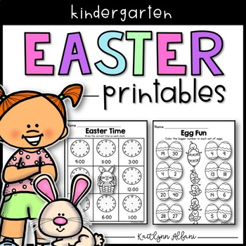 Easter Spring Printables - Math and Literacy Packet for Ki