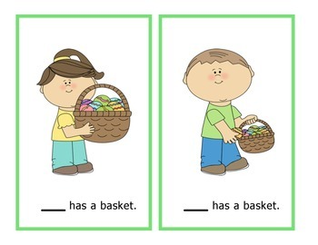 Easter Spring Pronoun Cards