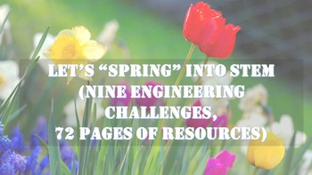 Easter/ Spring STEM Bundle, 9 Engineering Challenges Perfect for Maker Space