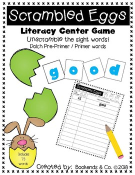 Easter/Spring Sight Word Literacy Center Game